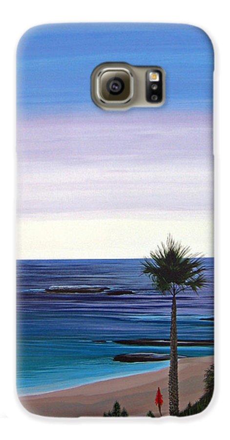 Malibu Beach Galaxy S6 Case featuring the painting Summer Samba by Hunter Jay
