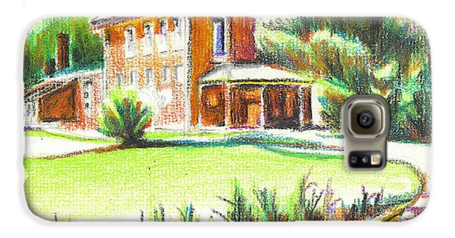 Summertime At Ursuline No C101 Galaxy S6 Case featuring the painting Summertime At Ursuline No C101 by Kip DeVore