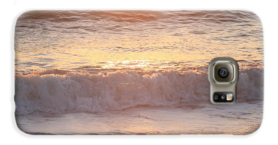 Waves Galaxy S6 Case featuring the photograph Sunrise Waves by Nadine Rippelmeyer