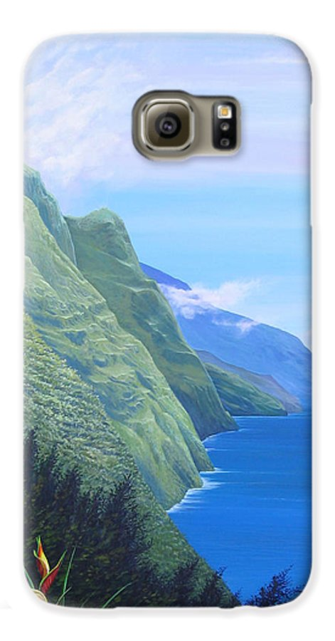 Landscape Galaxy S6 Case featuring the painting Sunshine In The Shade by Hunter Jay
