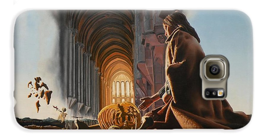 Surreal Galaxy S6 Case featuring the painting Surreal Cathedral by Dave Martsolf