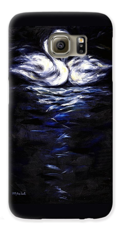 Bird Galaxy S6 Case featuring the painting Swan by Hiroko Sakai