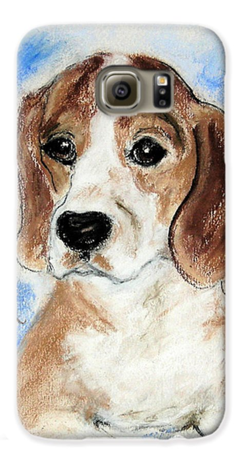 Dog Galaxy S6 Case featuring the drawing Sweet Innocence by Cori Solomon