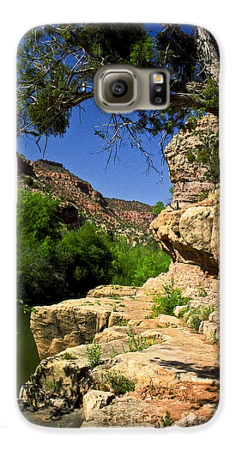 Arizona Galaxy S6 Case featuring the photograph Sycamore Canyon by Kathy McClure