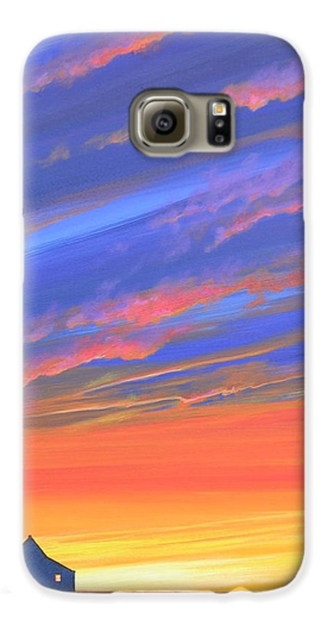 Sunset Galaxy S6 Case featuring the painting The Aunt's House by Hunter Jay