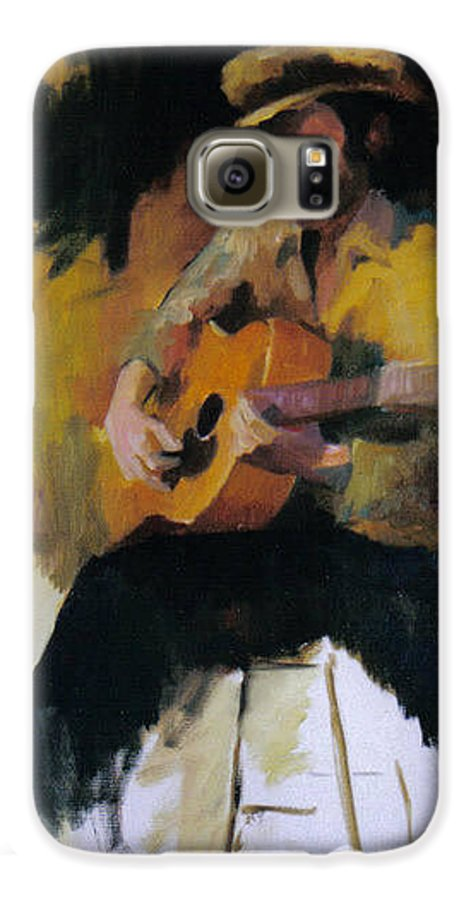 Man Galaxy S6 Case featuring the painting The Blues Man by John L Campbell