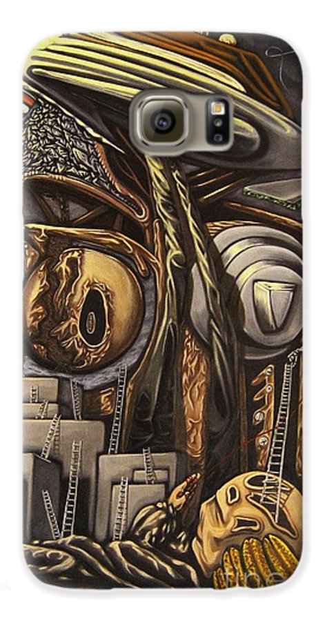 Surreal Galaxy S6 Case featuring the painting The Dow Itcher by Mack Galixtar