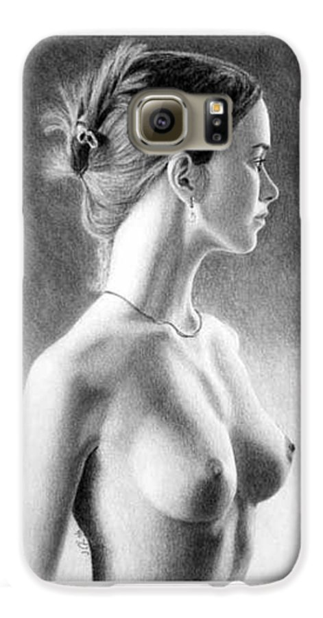 Pastel Galaxy S6 Case featuring the painting The Girl With The Glass Earring by Joseph Ogle