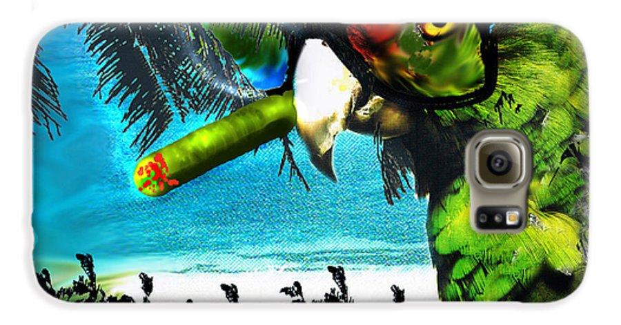 The Great Bird Of Casablanca Galaxy S6 Case featuring the digital art The Great Bird Of Casablanca by Seth Weaver