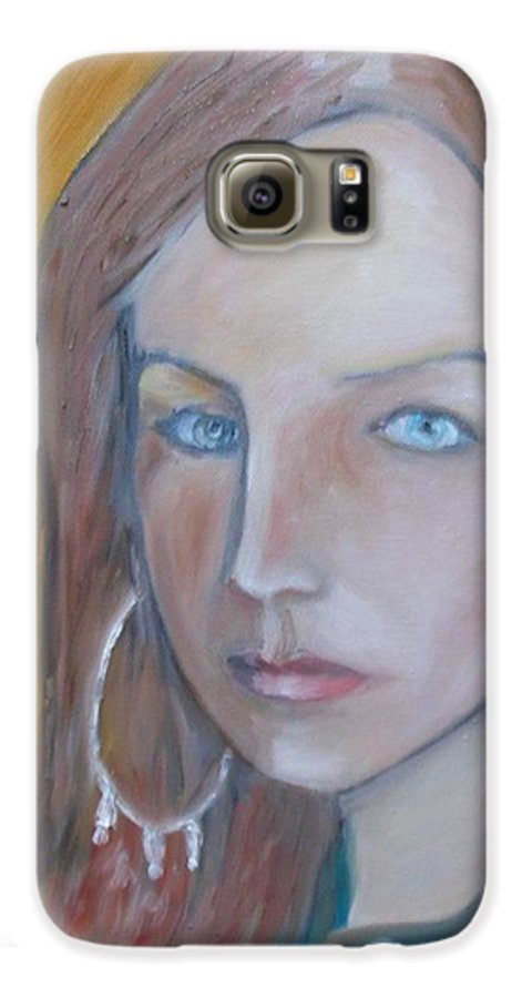 Portraiture Galaxy S6 Case featuring the painting The H. Study by Jasko Caus