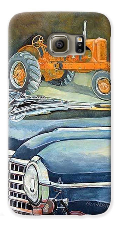 Rick Huotari Galaxy S6 Case featuring the painting The Old Farm by Rick Huotari