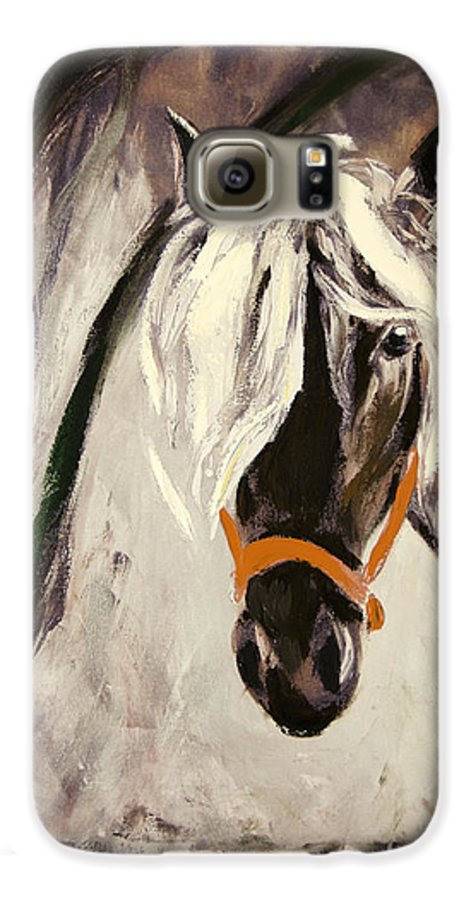 Horses Galaxy S6 Case featuring the painting The Performer by Gina De Gorna