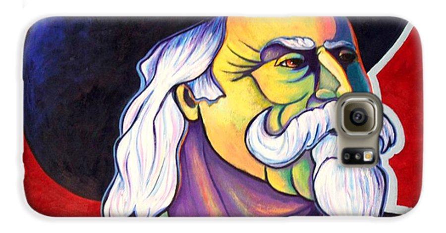 Western Hero Galaxy S6 Case featuring the painting The Plainsmen - Buffalo Bill Cody by Joe Triano