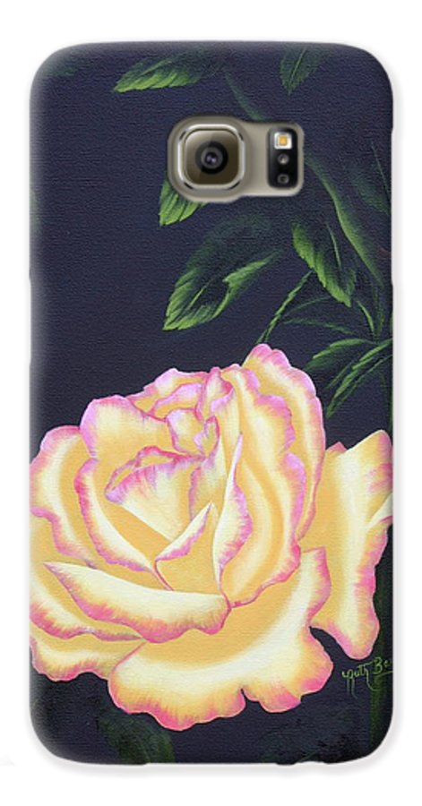 Rose Galaxy S6 Case featuring the painting The Rose by Ruth Bares