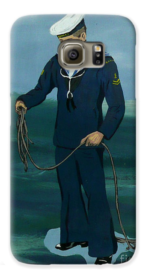 Sailor Galaxy S6 Case featuring the painting The Sailor by Anthony Dunphy