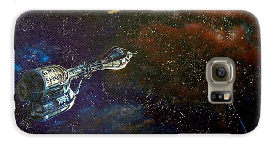 Vista Horizon Galaxy S6 Case featuring the painting The Search For Earth by Murphy Elliott