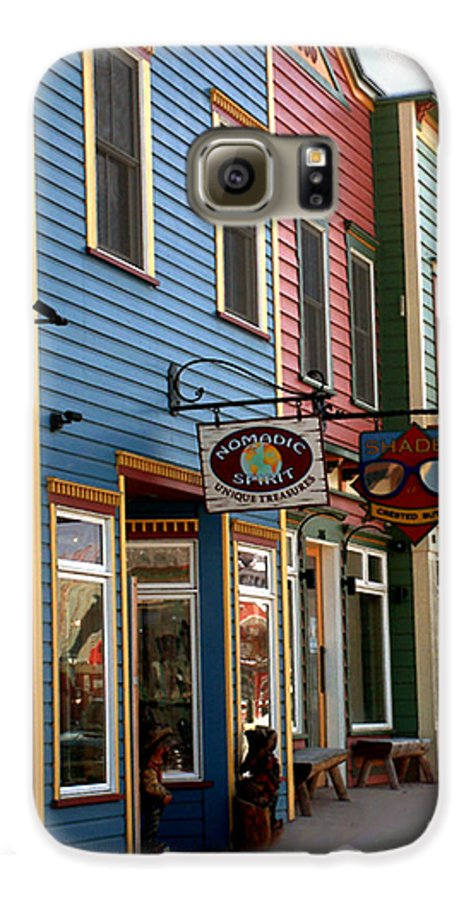Landscape Galaxy S6 Case featuring the photograph The Shops In Crested Butte by RC DeWinter