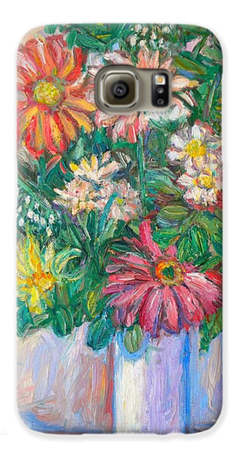 Still Life Galaxy S6 Case featuring the painting The White Vase by Kendall Kessler