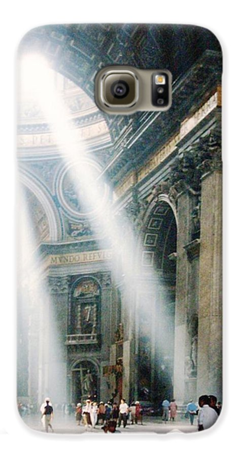 Cathedral Galaxy S6 Case featuring the painting This Needs No Further Title by Bruce Combs - REACH BEYOND