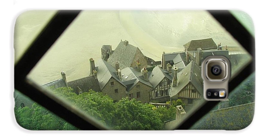 Le Mont St-michel Galaxy S6 Case featuring the photograph Through A Window To The Past by Mary Ellen Mueller Legault
