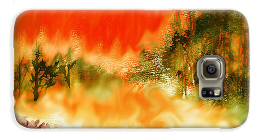 Timber Blaze Galaxy S6 Case featuring the mixed media Timber Blaze by Seth Weaver