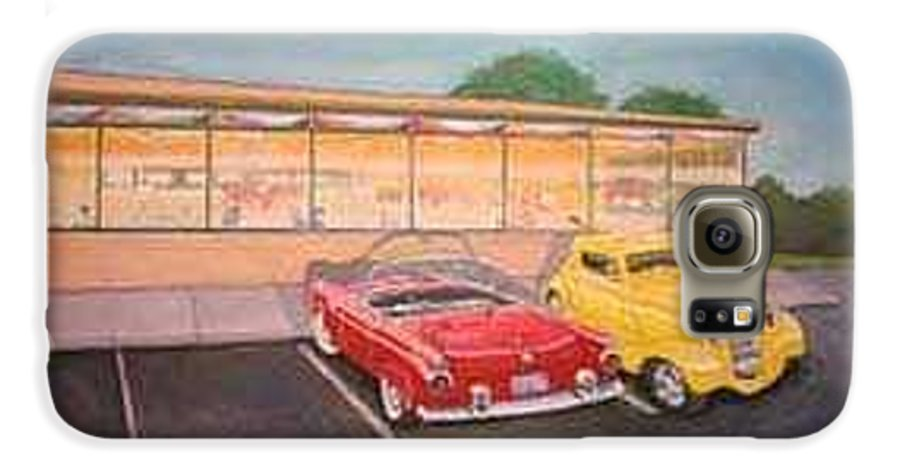 Rick Huotari Galaxy S6 Case featuring the painting Times Past Diner by Rick Huotari