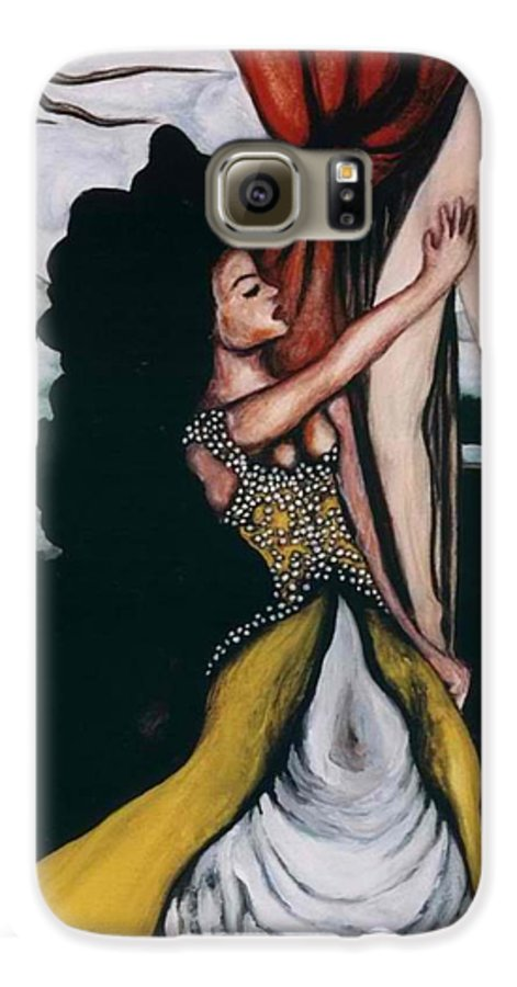 To Have And To Hold Galaxy S6 Case featuring the painting To Have And To Hold  Mourning The Loss Of A Lover by Ayka Yasis