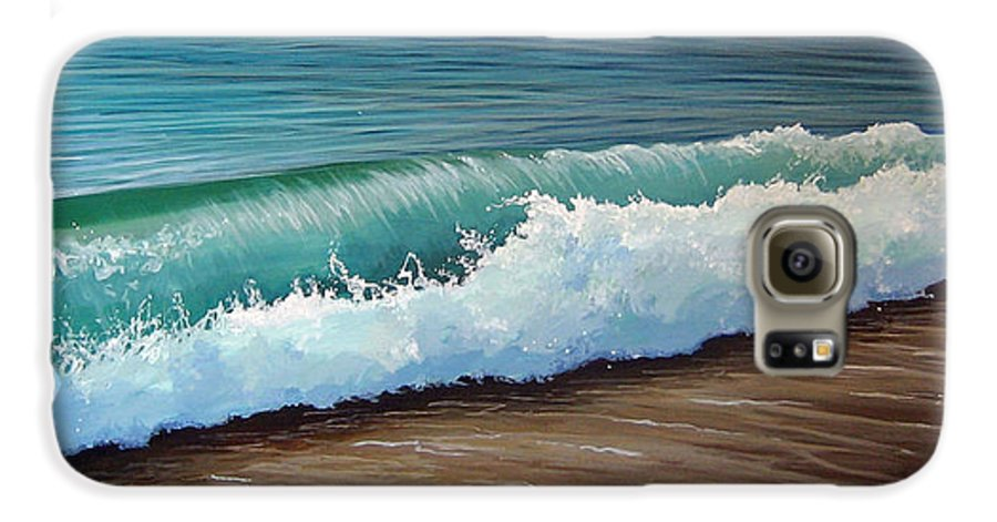 Wave On A Florida Beach Galaxy S6 Case featuring the painting To The Shore by Hunter Jay