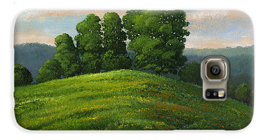 Landscape Galaxy S6 Case featuring the painting Toboggan Hill by Frank Wilson