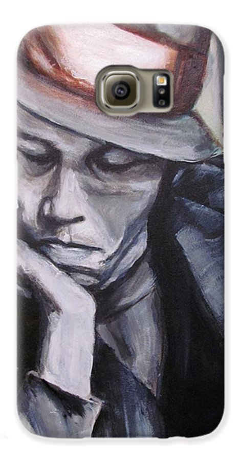 Celebrity Portraits Galaxy S6 Case featuring the painting Tom Waits One by Eric Dee