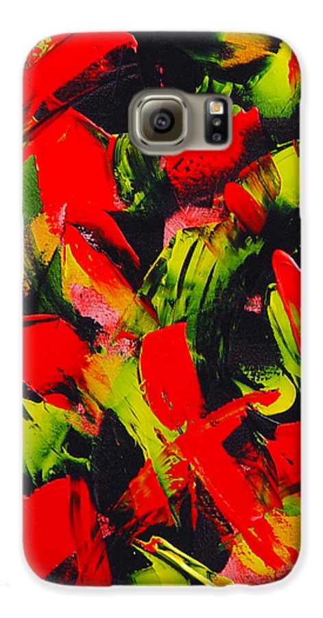 Abstract Galaxy S6 Case featuring the painting Transitions IIi by Dean Triolo