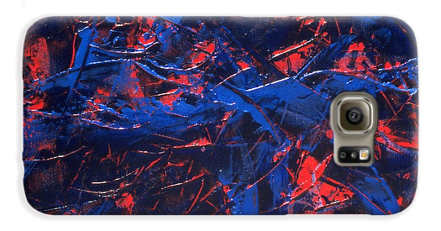 Abstract Galaxy S6 Case featuring the painting Transitions Iv by Dean Triolo