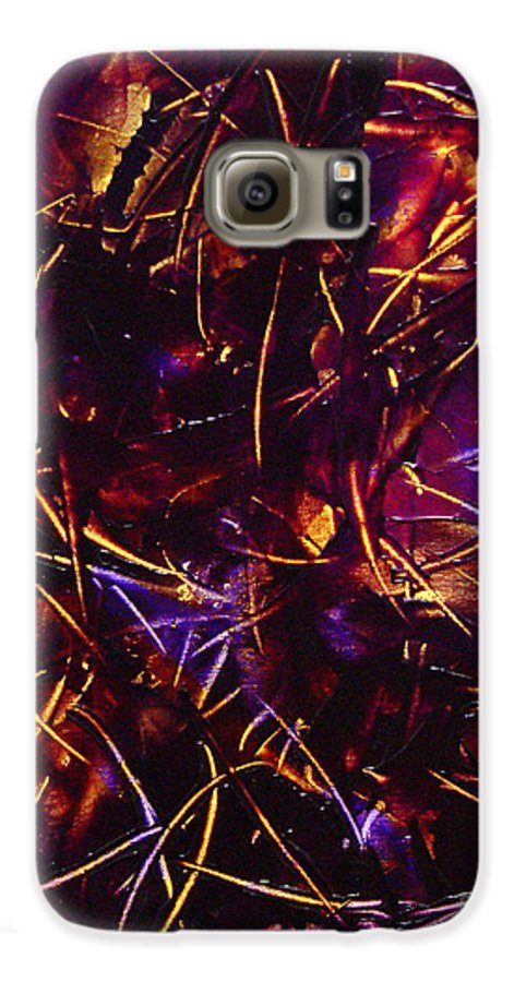 Abstract Galaxy S6 Case featuring the painting Transitions X by Dean Triolo