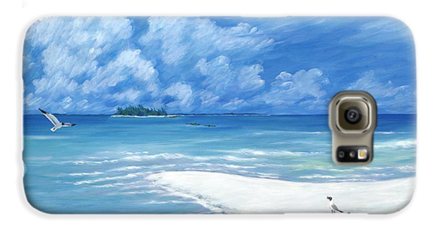 Seascape Galaxy S6 Case featuring the painting Treasure Cay by Danielle Perry