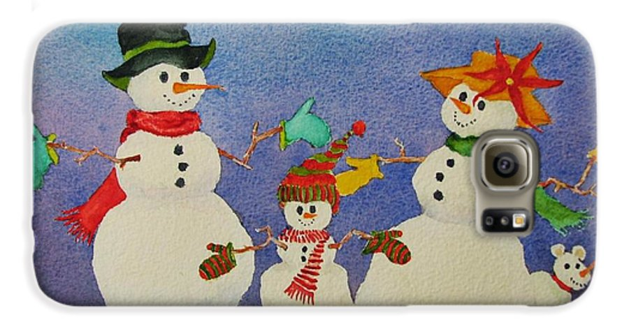 Winter Galaxy S6 Case featuring the painting Tres Chic by Mary Ellen Mueller Legault