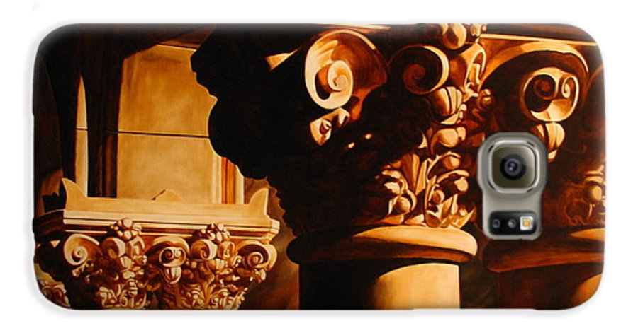 Corinthian Columns Galaxy S6 Case featuring the painting Turn Of The Century by Keith Gantos