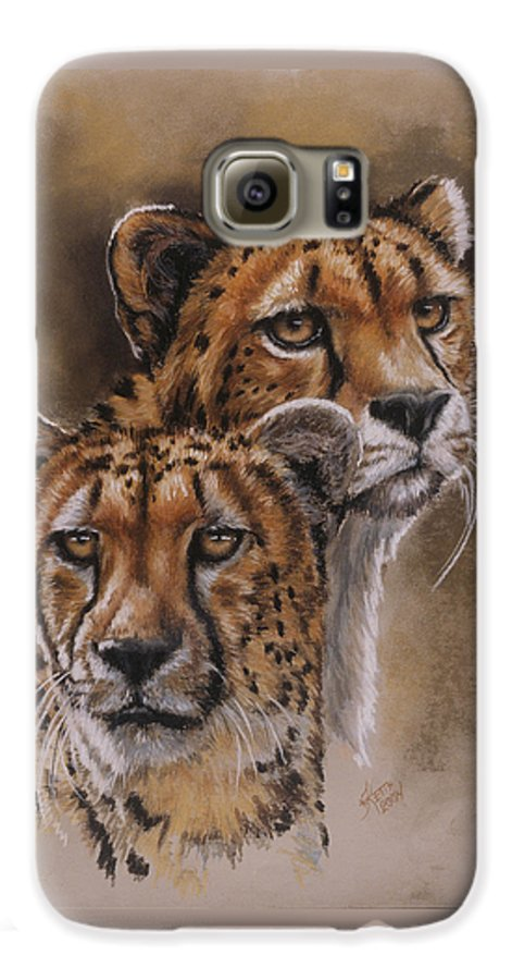Cheetah Galaxy S6 Case featuring the pastel Twins by Barbara Keith