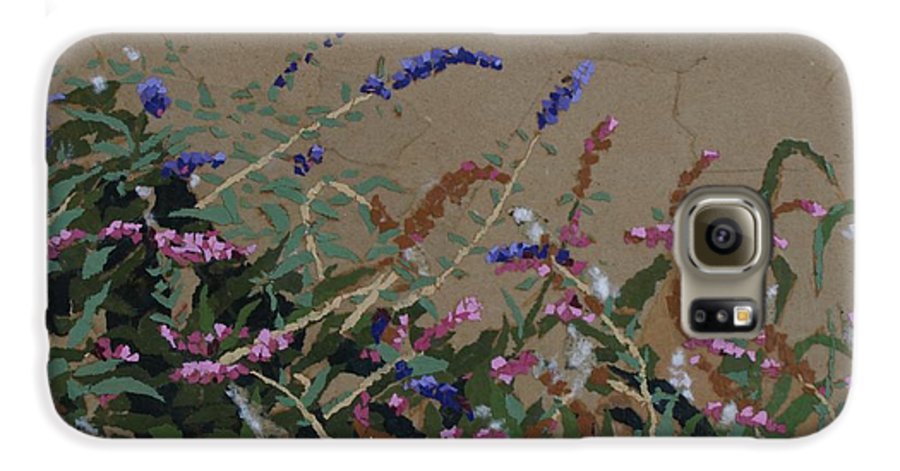 Flowering Butterfly Bush Galaxy S6 Case featuring the painting Tyler by Leah Tomaino