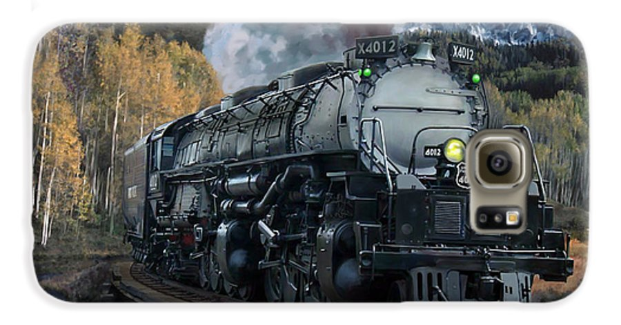 Railroad Galaxy S6 Case featuring the painting Union Pacific 4-8-8-4 Big Boy by Mark Karvon