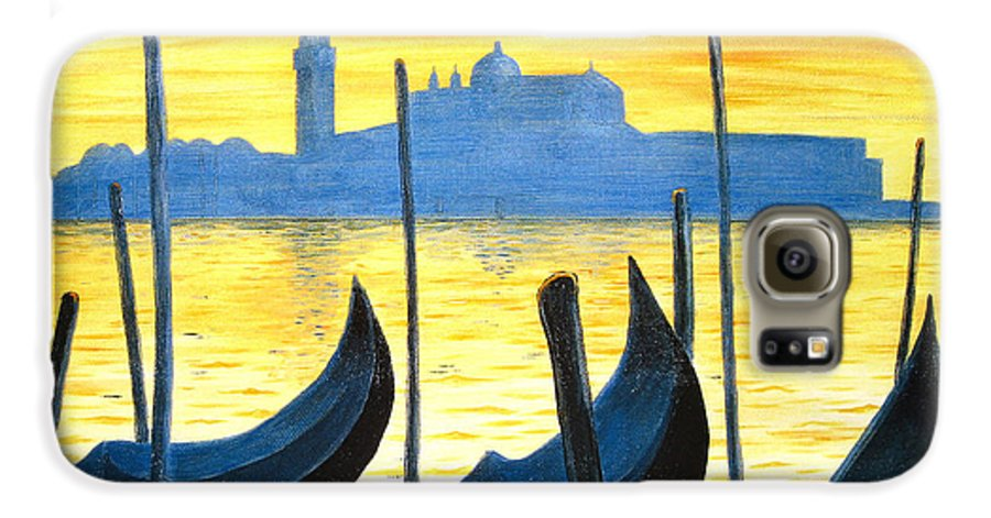 Venice Galaxy S6 Case featuring the painting Venezia Venice Italy by Jerome Stumphauzer