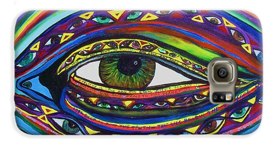 Vision Galaxy S6 Case featuring the painting Vision by J Andrel