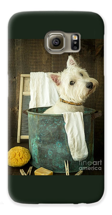 Dog Galaxy S6 Case featuring the photograph Wash Day by Edward Fielding