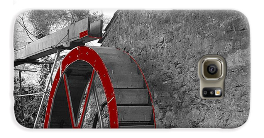 Water Galaxy S6 Case featuring the photograph Water Wheel. by Christopher Rowlands