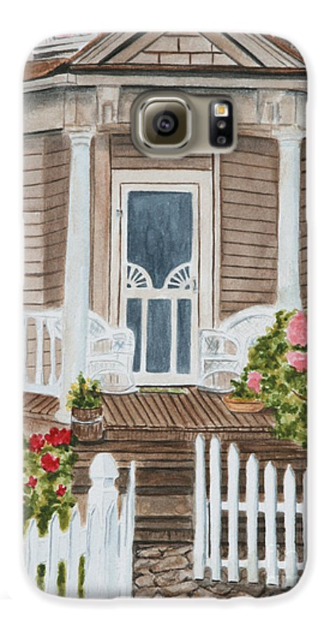 Architecture Galaxy S6 Case featuring the painting Welcome by Regan J Smith