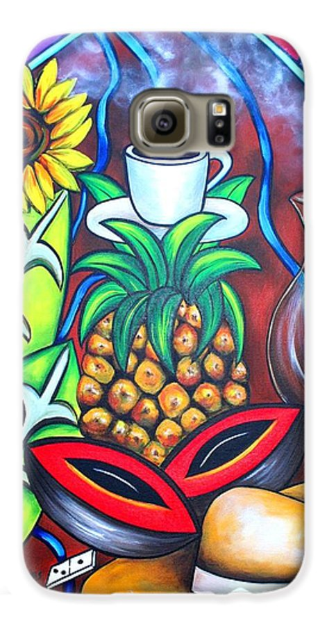 Cuban Paintings Galaxy S6 Case featuring the painting Welcome To Here And Now by Annie Maxwell