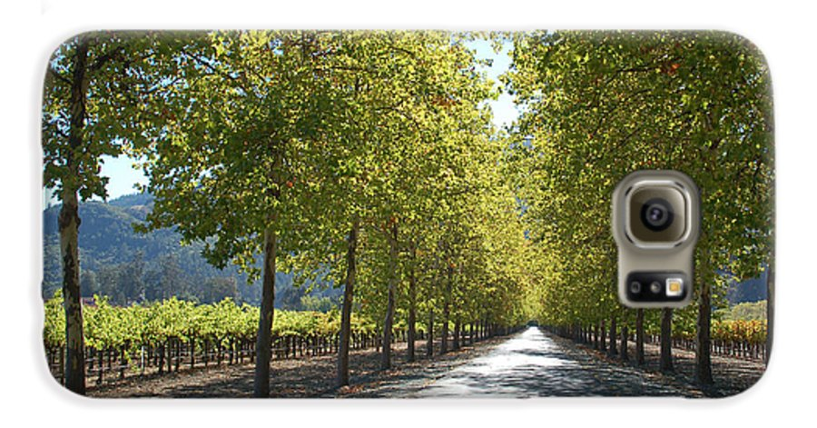 Napa Galaxy S6 Case featuring the photograph Wine Country Napa by Suzanne Gaff
