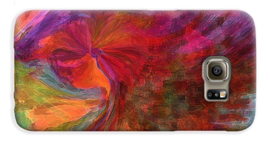 Woman Art Galaxy S6 Case featuring the digital art Women by Linda Sannuti