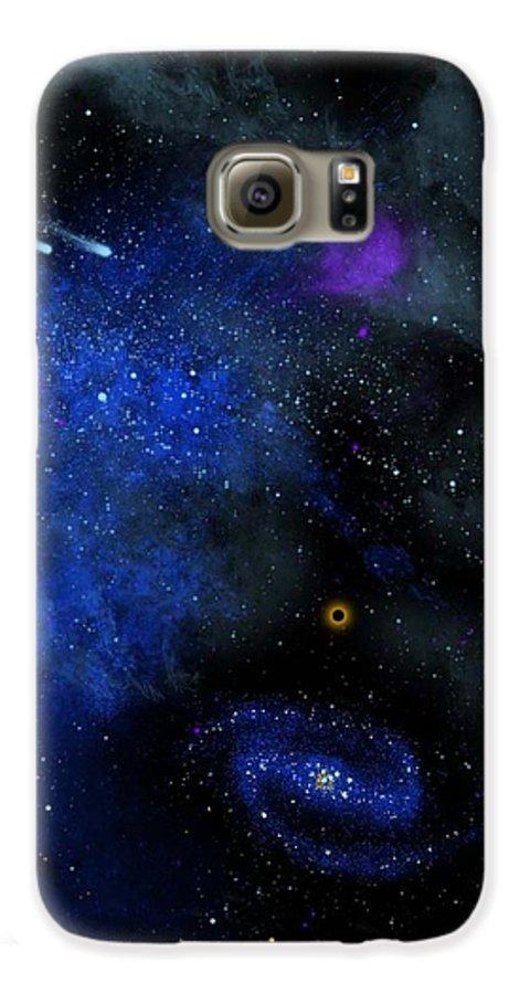 Wonders Of The Universe Mural Galaxy S6 Case featuring the painting Wonders Of The Universe Mural by Frank Wilson
