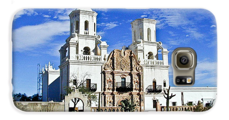 Mission San Xavier Del Bac Galaxy S6 Case featuring the photograph Xavier Tucson Arizona by Douglas Barnett