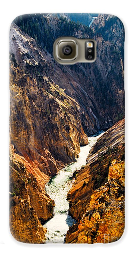 Yellowstone Galaxy S6 Case featuring the photograph Yellowstone River by Kathy McClure